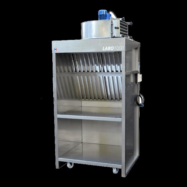 Cabine de flocage alimentaire Labo 1000 inox