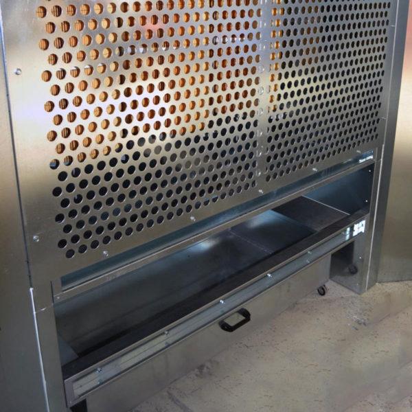 Cabine de poudrage industrielle