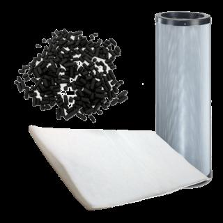 cartouche de charbon actif rechargeable pour filtration de cabine d'aspiration avec manchette filtrante