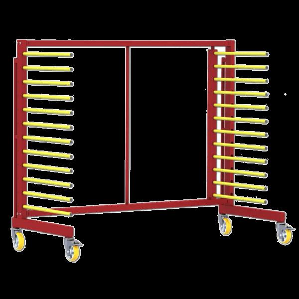 Chariot de stockage et transport pour pièces à peindre
