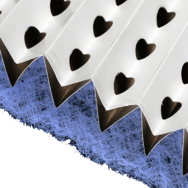 filtre carton plissé avec fibre de verre pour cabine de peinture