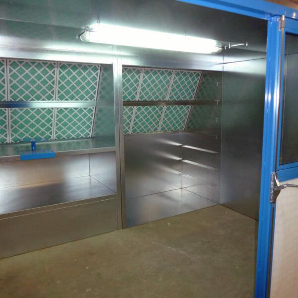 cabine de peinture Labo et cabine désolvatation