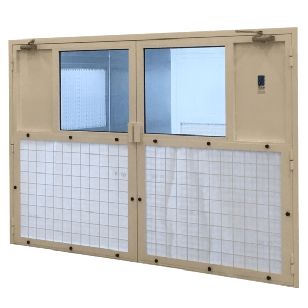 Portes filtrantes pour cabine de peinture