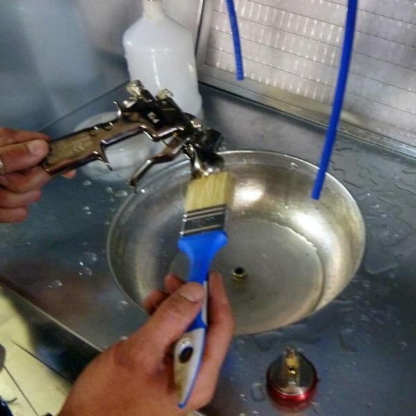 petite cabine peinture filtration charbon actif