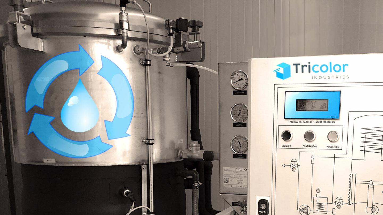 systeme d'evaporation de l'eau pour recyclage