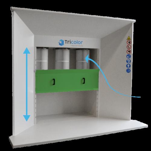 réflecteur de la cabine de poudrage compacte