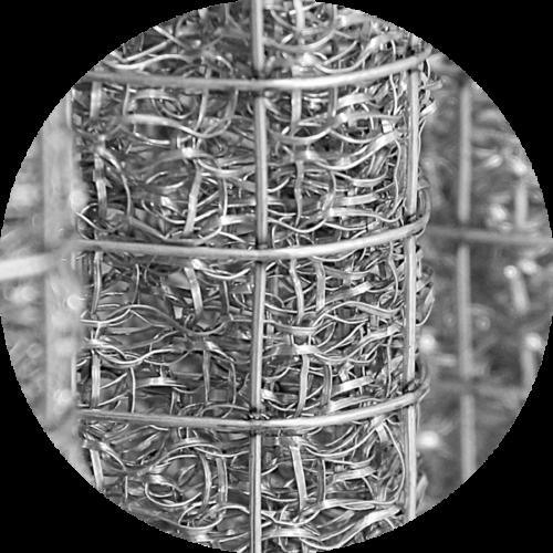 vue détail d'un filtre pour cabine de métallisation