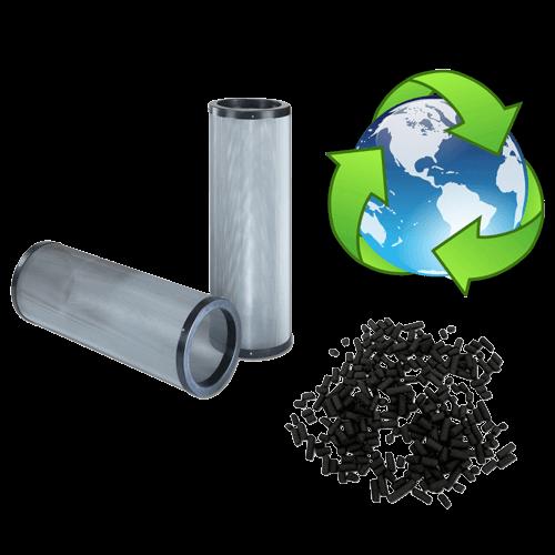 cartouche de charbon actif rechargeable pour filtration de cabine d'aspiration