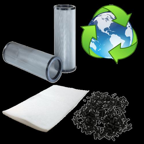 cartouche de charbon actif rechargeable avec manchette pour filtration de cabine d'aspiration