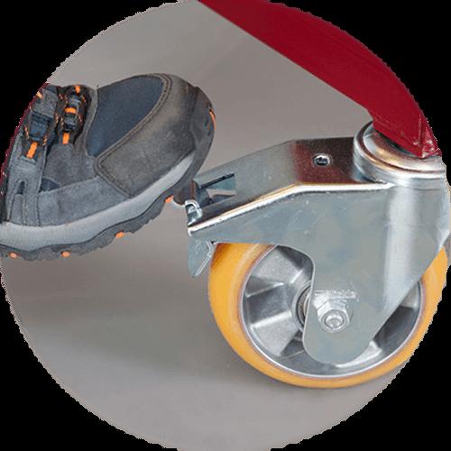Chariot de stockage et transport pour pièces à peindre roulant