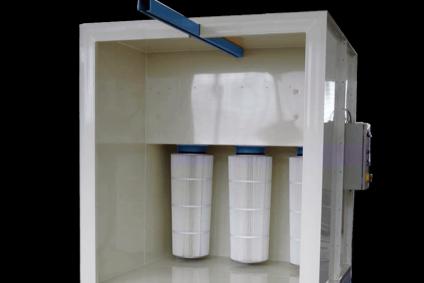 Mini-cabines de poudrage mobiles