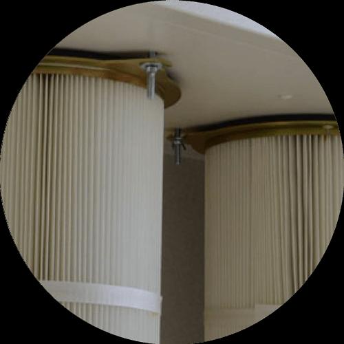 filtres avec decolmatage cabine de poudrage
