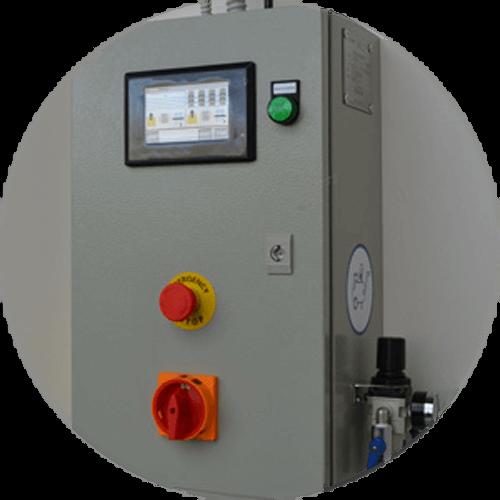 coffret de gestion du décolmatage des filtres de la cabine de poudrage compacte