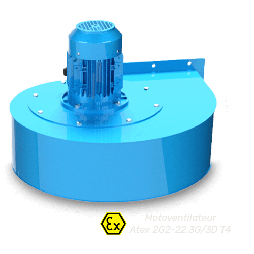 moto ventilateur Atex pour cabines de peinture et cabines d'aspiration