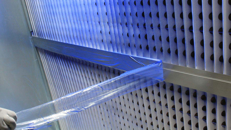 principe de fonctionnement film de protection cabine de peinture