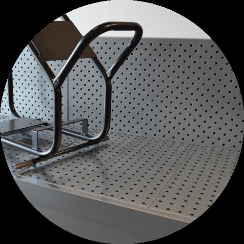 table aspirante solvant avec face aspirante verticale